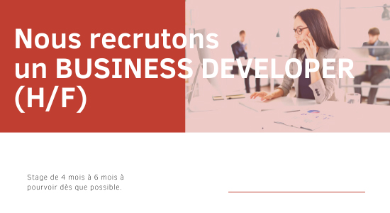 Offre de stage - business developer